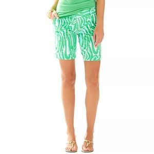 Lilly Pulitzer Chipper Short in turquoise & green
